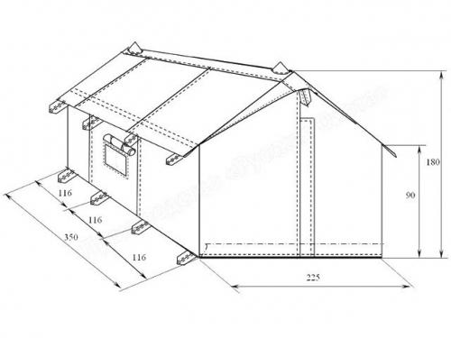Четырёхместная палатка