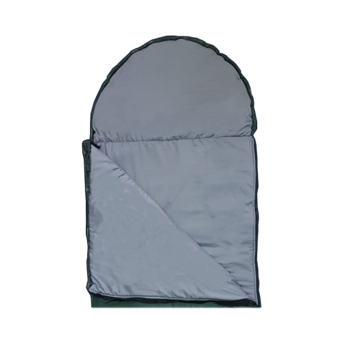 Спальный мешок-одеяло с подголовником, однотонный