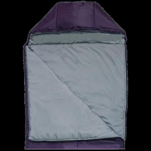 Спальный мешок-одеяло с капюшоном, однотонный