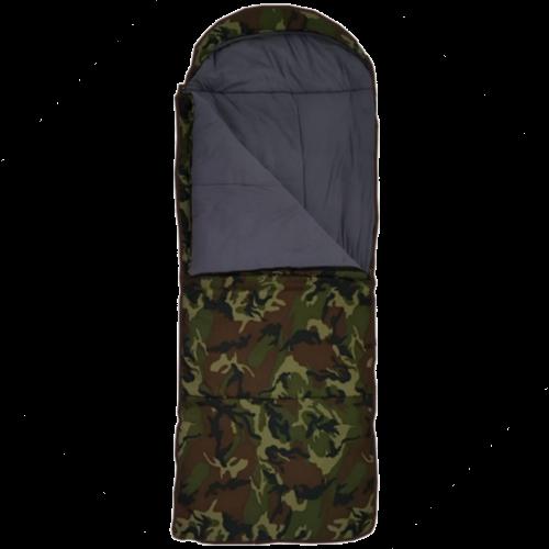 Спальный мешок-одеяло с подголовником, широкий, меринос, кмф