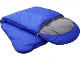 Спальный мешок-одеяло с подголовником, широкий, меринос, флис