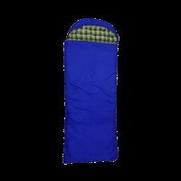 Спальный мешок-одеяло с подголовником, широкий, меринос, фланель