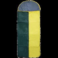 Спальный мешок-одеяло широкий с подголовником двухцветный